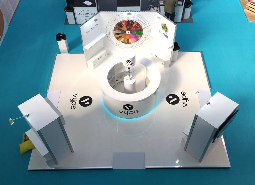 open trade show booth design from the top